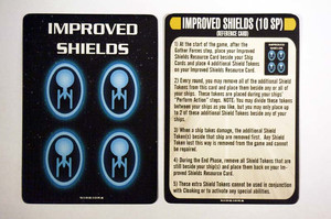 Attack Wing Star Trek - Resources: Improved Shields & Reference Card
